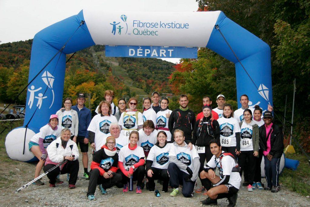 Participants du Défibrose. Photo crédit: Défibrose Mont Orford